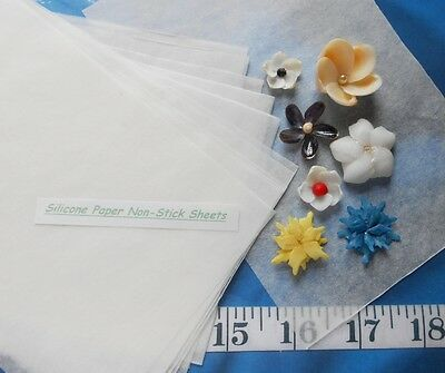 ~ Silicone-Paper Non-Stick Sheets for Creating Flowers ~ Sailor's Valentines ~