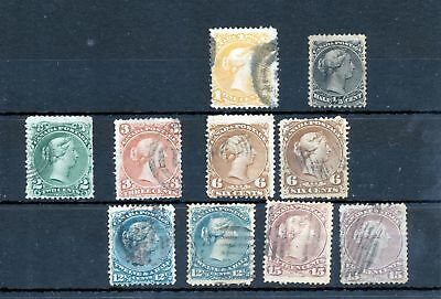 CANADA QV Used To 15c (10 Items) (PB 533s