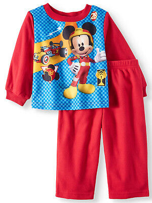 NEW Toddler Boys Disney Mickey Mouse Flannel 2 Pc Sleep Pajama Set Size 2T