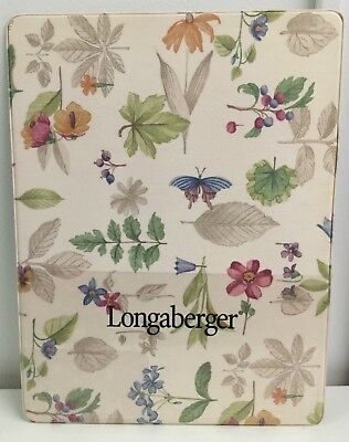 Longaberger Flowered # Home Show Lap Board Writing Organizer Business Pen Holder