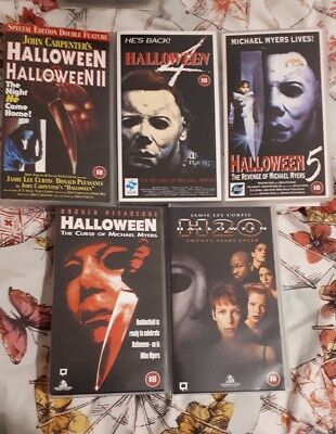 Halloween VHS Bundle - Michael Myers - Haddonfield - Slasher - RARE