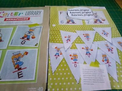 CROSS STITCH CHART LETTER LIBRARY BALLERINA BALLET ALPHABET AND NUMBERS CHARTS