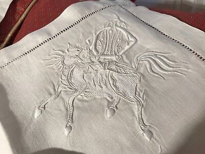 Rare Anciennes taies lin, Collection,broderie  indochine, noblesse française