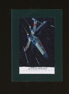 2015 Star Wars Chrome Perspectives Jedi vs Sith Sketch INGRID HARDY X-WING AUTO