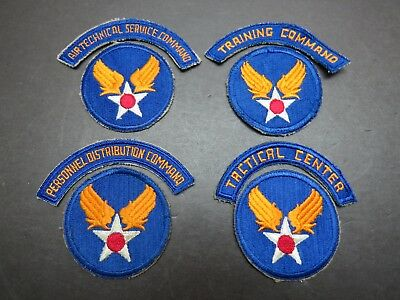 4 Original WW2 AAF Patches With Rockers