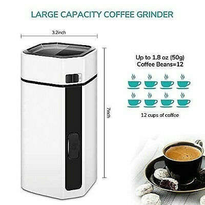 Electric Grinder For Coffee Beans Spices Herb Beans with Stainless Steel Blade