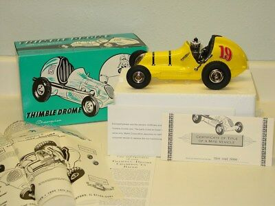 Die Cast Nylint Thimble Drome Champion Race Car Yellow Toy Vehicle