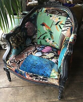 French Antique Style Upholstered Chair