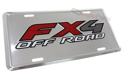 Nuevo!!! Ford FX4 Todoterreno Matrícula Aluminio Estampado en Relieve Metal Tag