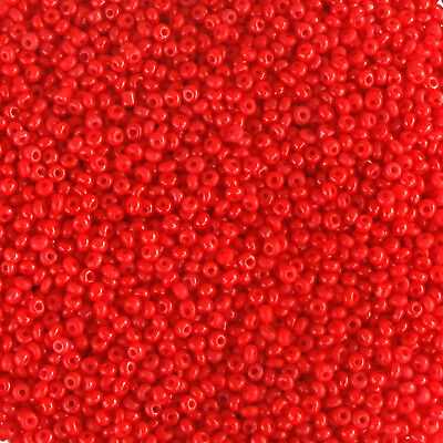 *** CLEARANCE *** Czech Seed Beads 11//0 Red Lustre 1//2 ounce 14 grams