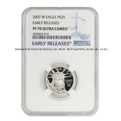 2007-W $25 Platinum Eagle NGC PF70UCAM ER Early Release Proof Ultra Cameo 1/4 oz