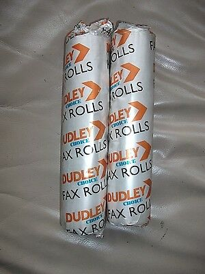 2 x ROLLS OF DUDLEY CHOICE FAX PAPER