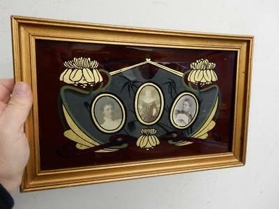 really old picture frame art nouveau fits miniature photographs