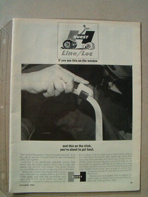 1965 Hurst Performance Line / Loc ***original Ad***