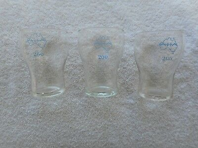 3 x 200 ml  AHA wine /  spirit /  beer glasses.  Hard to find !