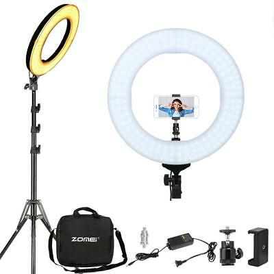 LED Ring Light With Stand ZOMEI 14 Inch 58W Dimmable Youtube Light Studio Light