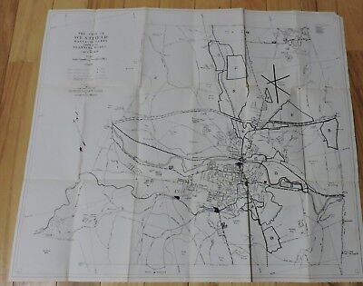 "Vintage 1960'S  The City Of Westfield Mass. Planning Board Map 24 1/2"" X 21 1/2"""