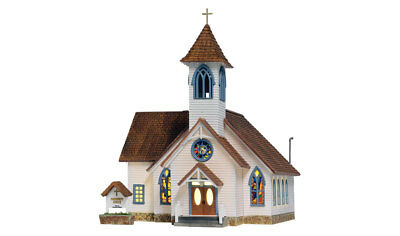 Woodland Scenics BR5041, HO Scale, Built & Ready, Community Church w/ LED Light