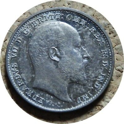 elf  Great Britain 3 Pence 1902 Silver  Edward VII   Maundy