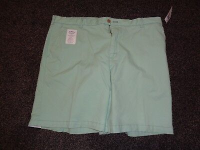NEW Izod Men's SALTWATER RELAXED Shorts Flat Front Cotton  BLEND Size: 40