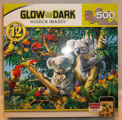 Master Pieces Hidden Images Glow in the Dark Camp Koala Bear Jigsaw Puzzle 500