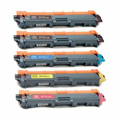 5PK TN221 TN225 Toner Replacement for Brother MFC-9340CDW MFC-9130CW MFC-9330CDW