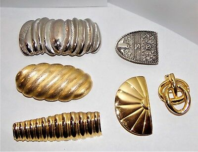Lot of 6 Ladies Metal Belt Buckles Dotty Smith, Gay Boyer Etc.