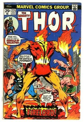 Thor #225 (1974) VG- Marvel Comics First appearance of Firelord