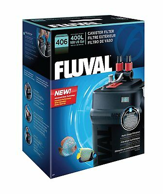 Fluval External Filter aquariums up to 100 gallons. Flow Rate: 1450 LPH, (406)