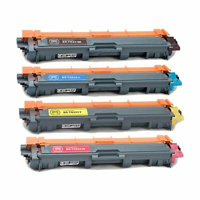 4PK TN221 Toner Compatible for Brother MFC-9140CDN MFC-9340CDW MFC-9010 MFC-9130