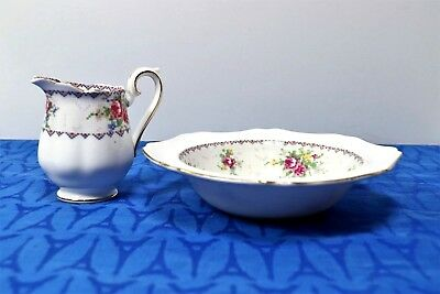 LOT of Royal Albert PETIT POINT Bon Bon / Sweet Meat Dish / Bowl + Creamer MINT!