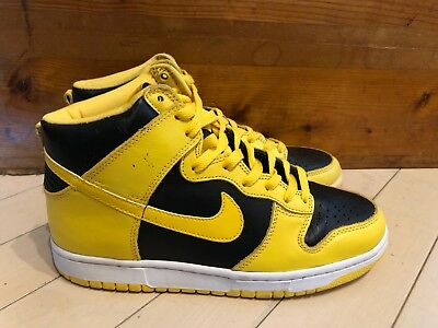 buy popular 02877 dc927 1999 Nike Dunk High LE Goldenrod Yellow Black size 8