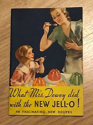 Vintage 1933 Jell•o jello Deserts Recipe Booklet What Mrs. Dewey did cookbook