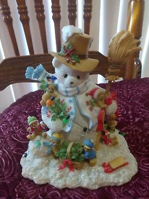 Cherished Teddies Winter Snowman LE #413 of 600 Signed By Priscilla Hillman
