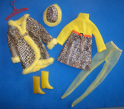 Vintage Francie Doll #1245 Snake Charmers Complete Outfit 1969 Hat Boots Hose