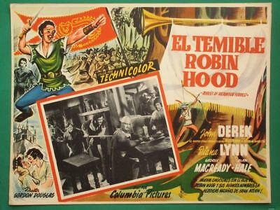 Rogues Of Sherwood Forrest John Derek Robin Hood Spanish Mexican Lobby Card 5