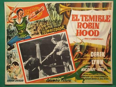 Rogues Of Sherwood Forrest John Derek Robin Hood Spanish Mexican Lobby Card 4