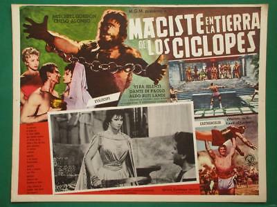 Atlas Against The Cyclops Strongman Monster Peplum Spanish Mexican Lobby Card 3