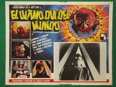 END OF THE WORLD Horror SCI-FI CHRISTOPHER LEE SUE LYON MEXICAN LOBBY CARD 8