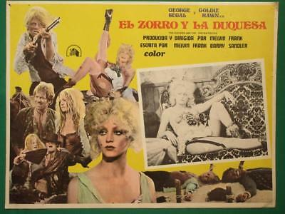Goldie Hawn The Duchess And The Dirtwater Fox Saloon Girl Mexican Lobby Card 2