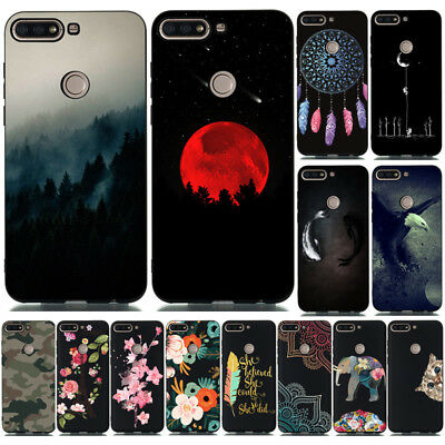 For Huawei Y5 Y6 Y7 Prime 2018/19 Painting Matte Case Slim Soft Silicone Cover