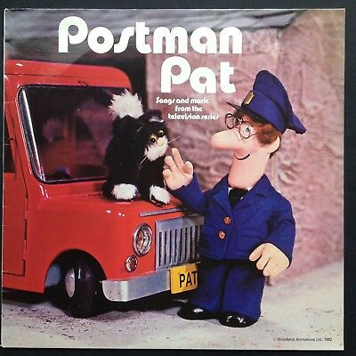 POSTMAN PAT LP Rare TV Soundtrack Songs Ken Barrie Bryan Daly Woodland Animation