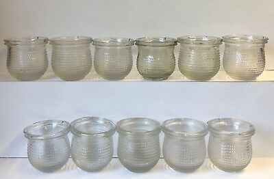 Eleven  Old Clear Glass Bottles/jars Great For Wedding Tables With Tea Lights.