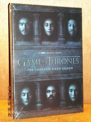 Game Of Thrones The Complete Sixth Season (DVD, 2016, 5-Disc) HBO medieval drama