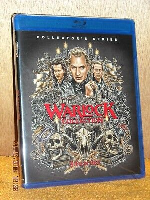 Warlock Collection Triple Feature (Blu-ray, 2018, 2-Disc) NE Julian Sands horror