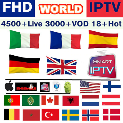Smart Iptv 12 Mois Abonnement, M3U, Kodi, Vlc, Ios,android.vod, Box, Mag