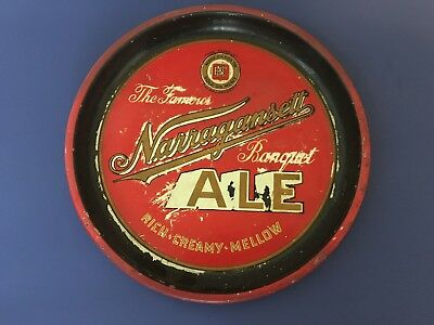 Vintage The Famous Old Narragansett  Ale /  Beer  Serving Tray