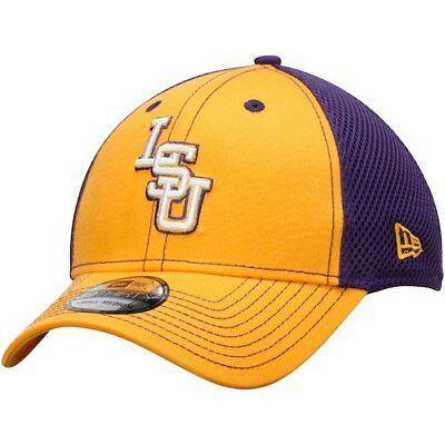 2e4499db82b LSU TIGERS NEW Era 39Thirty Mega Team Stretch fit hat S M Purple ...