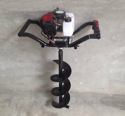 Petrol Auger Drill Post Hole Borer 52 Cc + 1 Drill