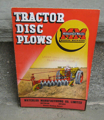 1948 Minneapolis-Moline Tractor Disc Plows Brochure